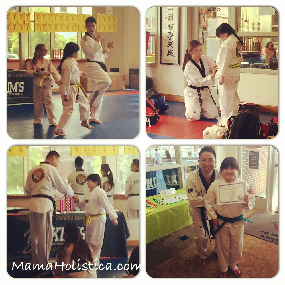 Miércoles Mudo/Wordless Wednesday: Cinturón Verde en Tae Kwon Do #GreenBelt #MM